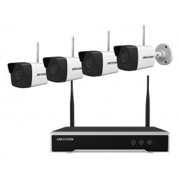 Rejestrator CCTV 4-kanał.+4 kam.+HDD zestaw WIFi 2MPix HikVision NK42WO / 88-100