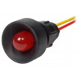 Kontrolka LED 10mm 12-24V AC/DC czerwona KLP-10/R