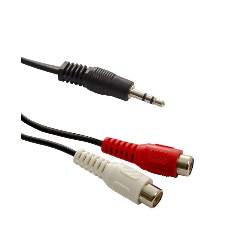 Złącze Jack wt.3,5st-2xRCA gn.1,5m / dpm EN31