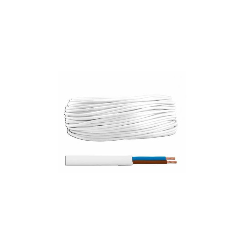 Przewód OMY 2x0,75 300/300V Biały / LxOMY2X0.75