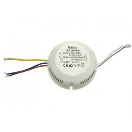 Zasilacz do LED prądowy 820mA 24-48V 36W okrągły / 012150