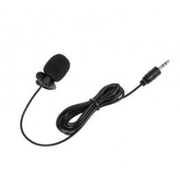 Mikrofon z klipem z wtykiem Jack 3,5mm 2m / MIK0039