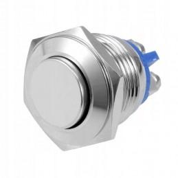Przełącznik przycisk chwilowy PW16PW fi-16mm 2A/250V wystający