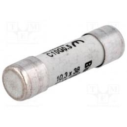 Bezpiecznik 38x10,3mm 0,5A 500V ceramiczny / C10G0-5