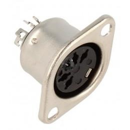 Gniazdo DIN 5p 180st. do obudowy metal./ 290060