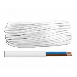 Przewód OMYp 2x0,75 300/300V biały płaski