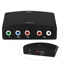 Konwerter HDMI na COMPONENT (YpbPr) + AUDIO (L+R)
