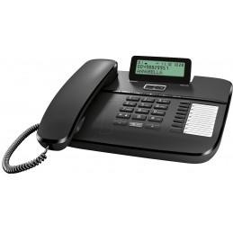 Telefon stacjonarny Gigaset DA710 czarny z wyświetlaczem pamięcią 8x2