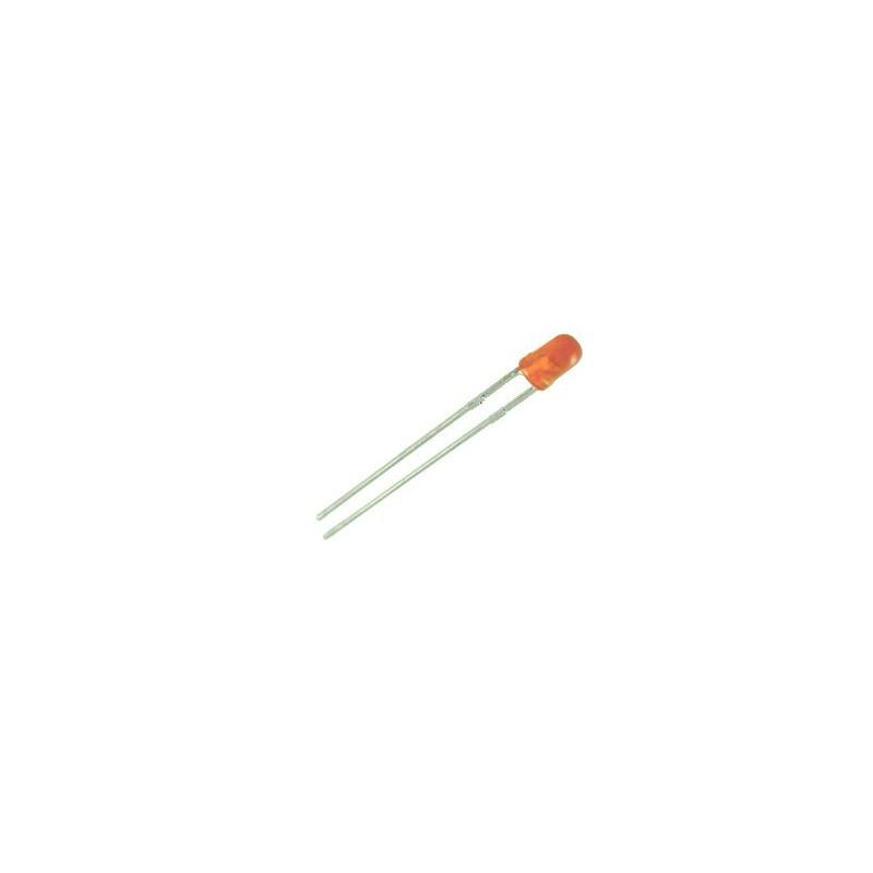 Dioda LED 3mm pomarańczowa dyfuzyjna