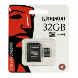Karta SD 32GB micro+adapter KINGSTON Class 10
