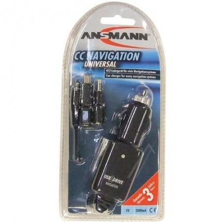 Zasilacz GPS 5V-2A do Garmin USB+wt.DC samochodowa