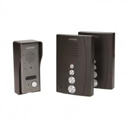 Domofon 1-LOK. ORNO-ELUVIO bezsłuchawkowy czarny z interkom / OR-DOM-RE-920/B