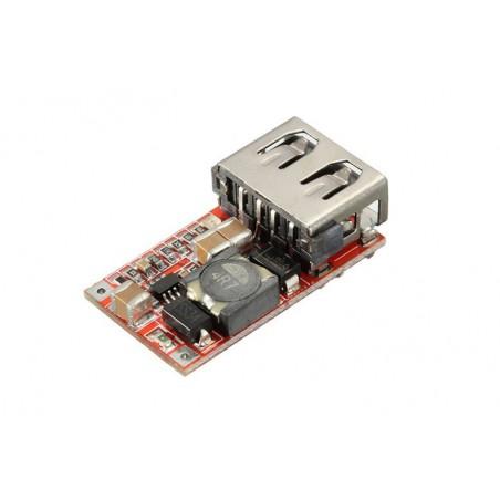 Zasilacz 5V/3A USB montażowy - przetwornica DC/DC 6-24V