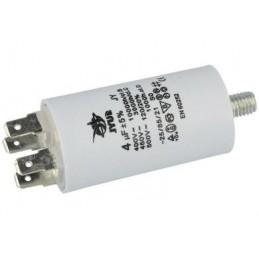 Kondensator rozruchowy 4uF/450V AGD z konektorami