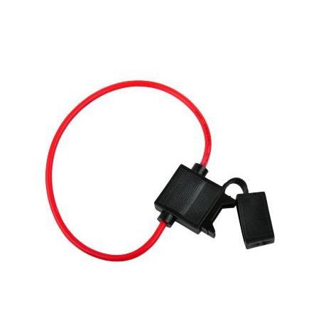 Gniazdo bezpiecznika nożowego na kablu 5mm 30cm / GNI0131-3