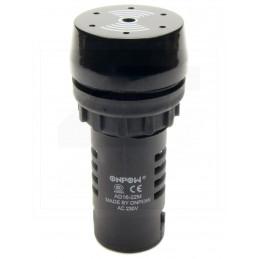 Buzzer - sygnalizator AD16-22M 220V 35mA 80dB 22mm z generatorem IP40
