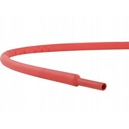 Rurka termokurczliwa 2mm/1mm - 1m / czerwona