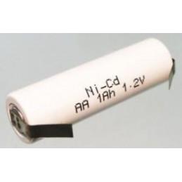 Akumulator R6 1,2V 1,0Ah 14x50mm BYD AA NiCd do lutowania