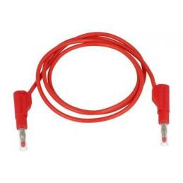Przewód pomiarowy 32A/600V silikon 2x wtyk bananowy czerwony