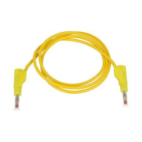 Przewód pomiarowy 32A/600V silikon 2x wtyk bananowy żółty