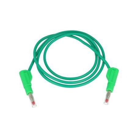 Przewód pomiarowy 32A/600V silikon 2x wtyk bananowy zielony
