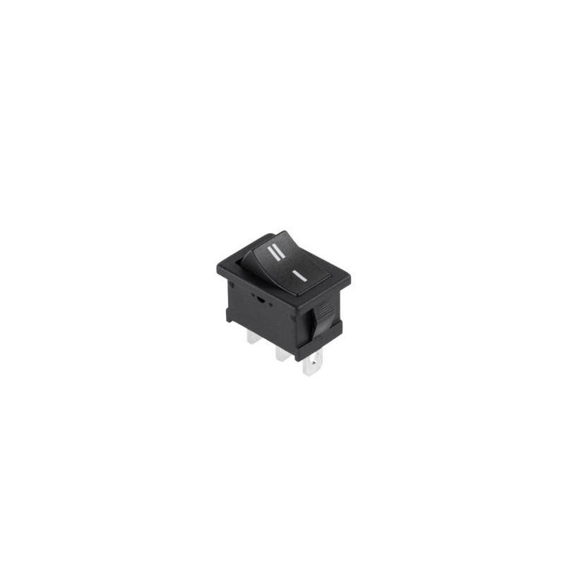 Przełącznik klawisz 2-poz duży czarny 6pin MRS-102 / PRK0050AK