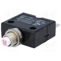Wyłącznik nadprądowy-termobimetaliczny bezpiecznik 20A 250V / W54-XB1A4A10-20