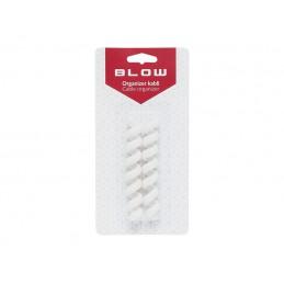 Uchwyt-organizer kabli sprężyna elastyczna biała / 42-111