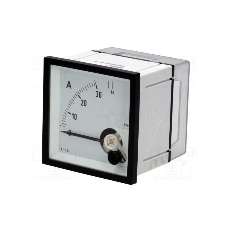AAmperomierz 30A/60A AC analogowy panelowy True RMS / EQN72-30/60A
