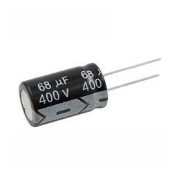 Kondensator 68uF-400V elektrolit 105st.C