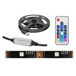 Taśma LED 12V RGB+W ciepły 2m + sterownik RF 40xLED 5050
