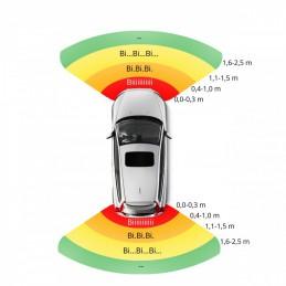 Czujniki parkowania LED-przód-tył czarne 22mm / EPP8100
