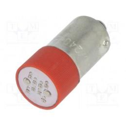 Żarówka BA9S 230V LED czerwona / S-9LL230AC-R