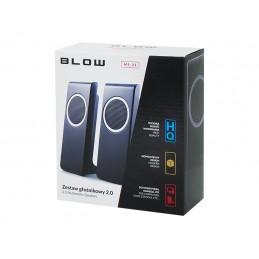 Głośniki komputerowe 2.0 BLOW MS-22 USB / 66-373