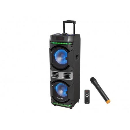 """Kolumna głośnikowa aktywna BLOW BT4000 10"""" (mikrof.bezprz. FM/USB/SD/BT)+aku.4,5Ah"""