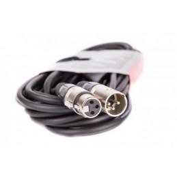 Złącze mikrofonowe XLR wt.3p-gn.3p 1m