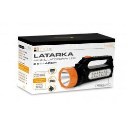 Latarka LED 1.5W + 2.1W aku+solar LB0169 LIBOX