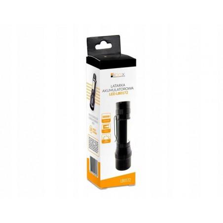 Latarka LED 5W taktyczna 600Lm Zoom z akumulatorem LB0172 LIBOX