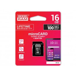 Karta SD 16GB micro+adaptor GOODRAM class 10