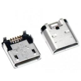 Gniazdo micro-USB 5pin + 4-nogi do SMD (NOKIA LUMIA 520, 525, 620, 630, 635)