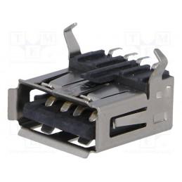 Gniazdo USB A pozime do druku / USBA-G-SMD