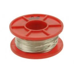 Srebrzanka 0,8mm drut srebrzony Cu 100g (22mb) / 01342