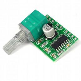 Mini wzmacniacz mocy stereo 2x3W PAM8403 klasa D z potencjometrem zasilanie 5V