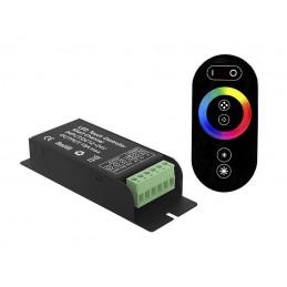 Sterownik do taśm LED RGB dotyk-key 12V/24V 216W max./ LxTRF77