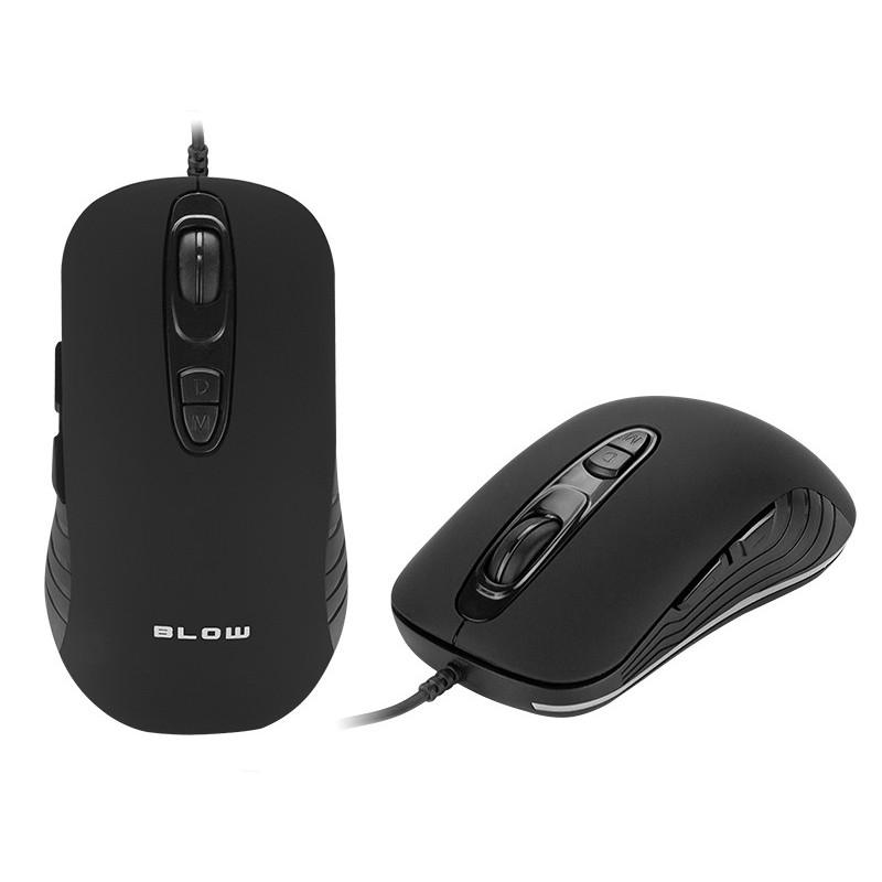 Mysz optyczna BLOW Adrenaline NECROS USB dla graczy / 84-053