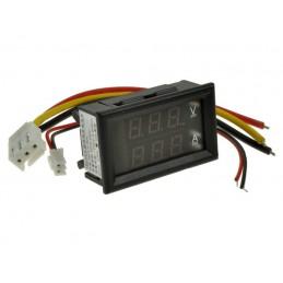 Amperomierz/voltomierz cyfrowy 0-10A 0-99,9V DC z bocznikiem