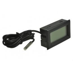 Termometr panelowy LCD od -50 do 100*C czarny