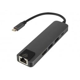 HUB USB-C port / HDMI/LAN/ USB 3.0x2/USB-C 5w1 do Apple (seria MacBook)
