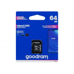 Karta SD 64GB micro+adapter GOODRAM class10