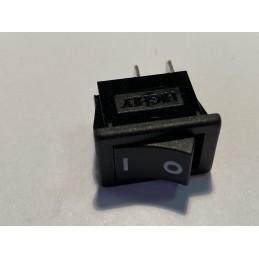Przełącznik klawisz 250V 6A 2-poz 1-tor 1xNO+NC czarny R9-00 HIGHLY / PW-056